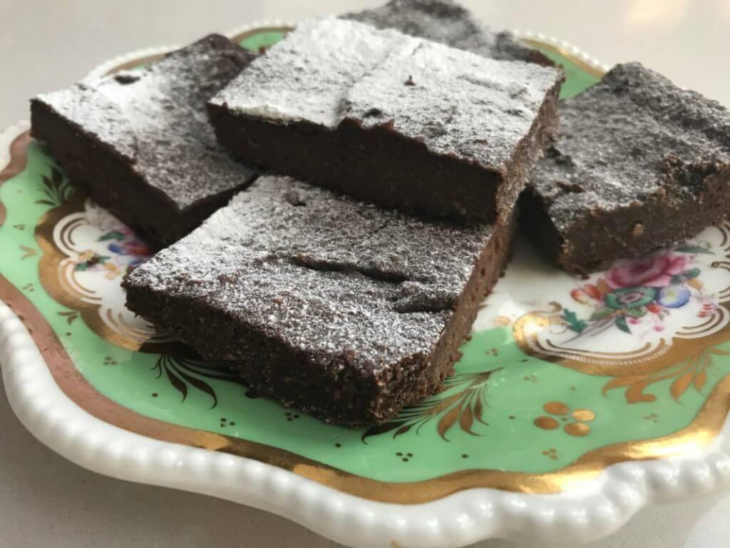 Plate of Chocolate Brownies
