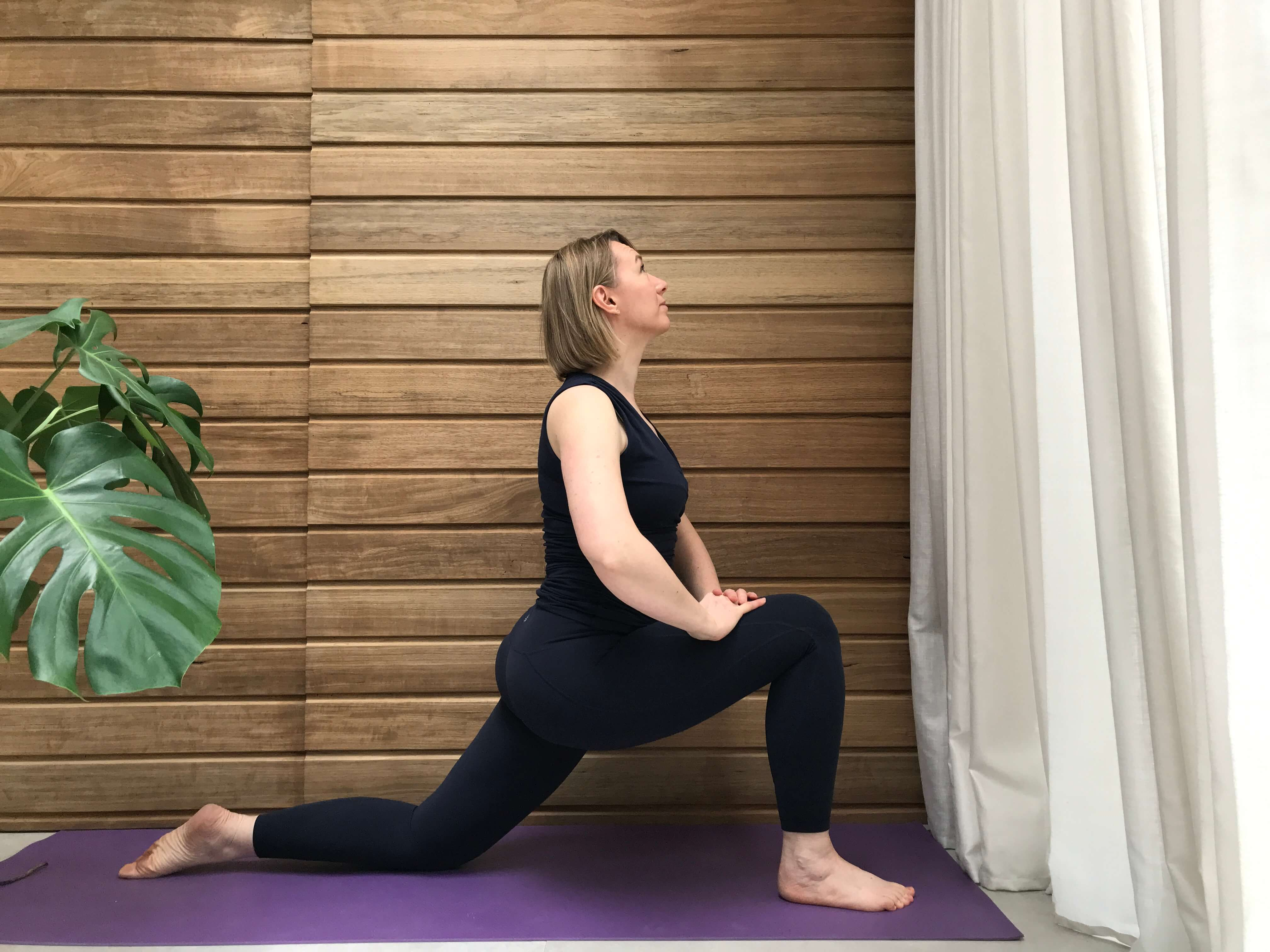 lunge crescent poses