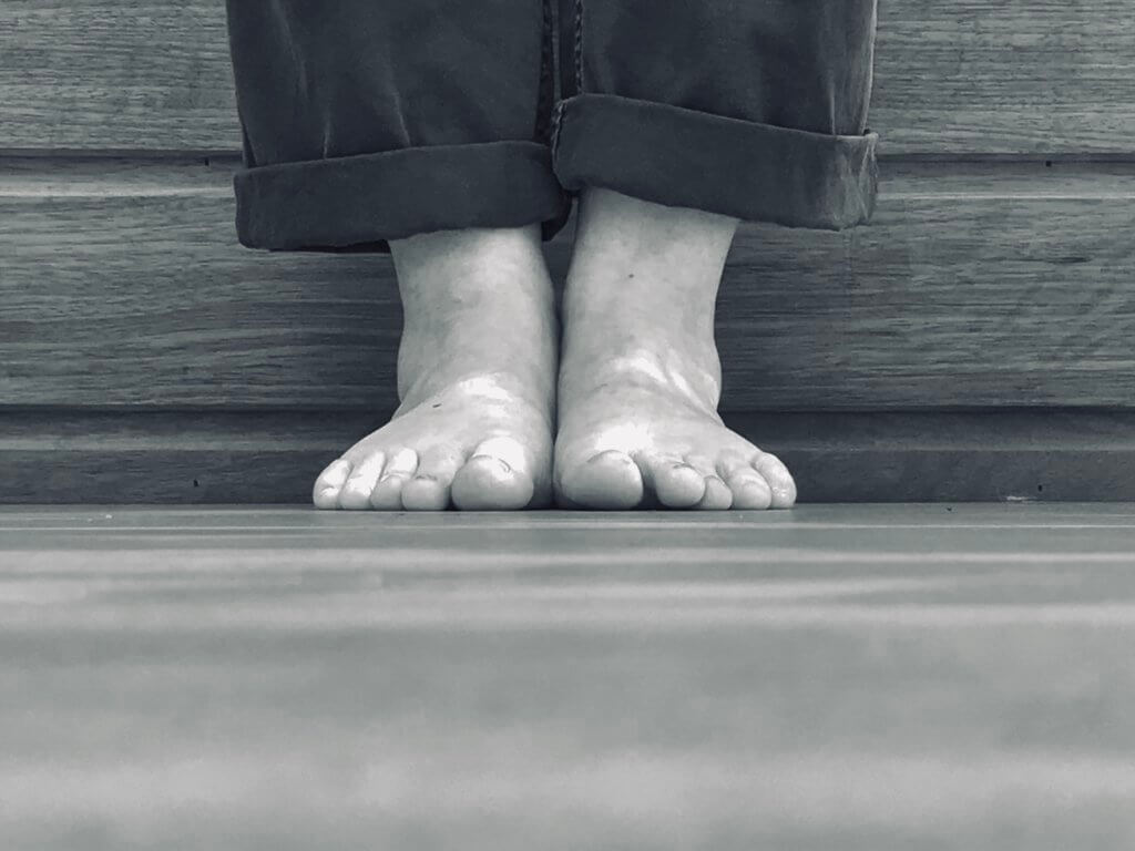 Feet in Yoga Tadasana