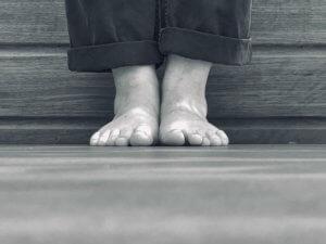 Feet in Yoga Tadasana