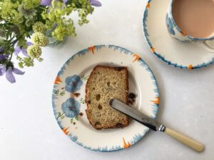 Slice of gluten-free banana bread