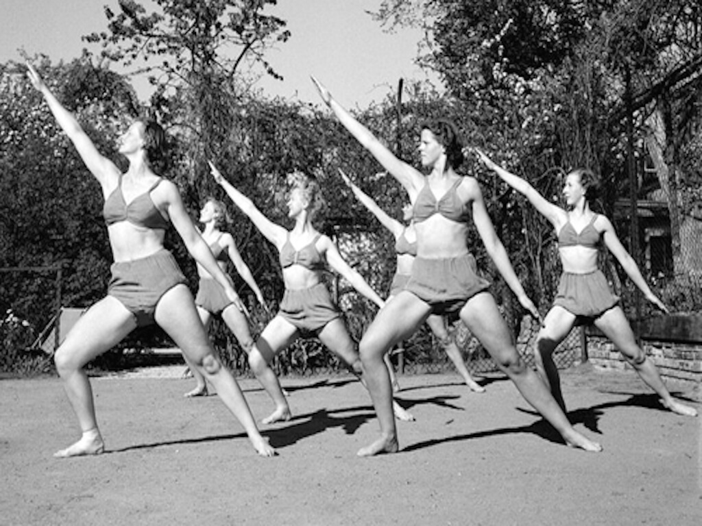 vintage photo for yoga styles
