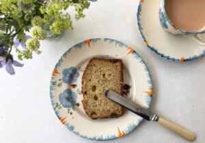 Slice of gluten-free banana bread